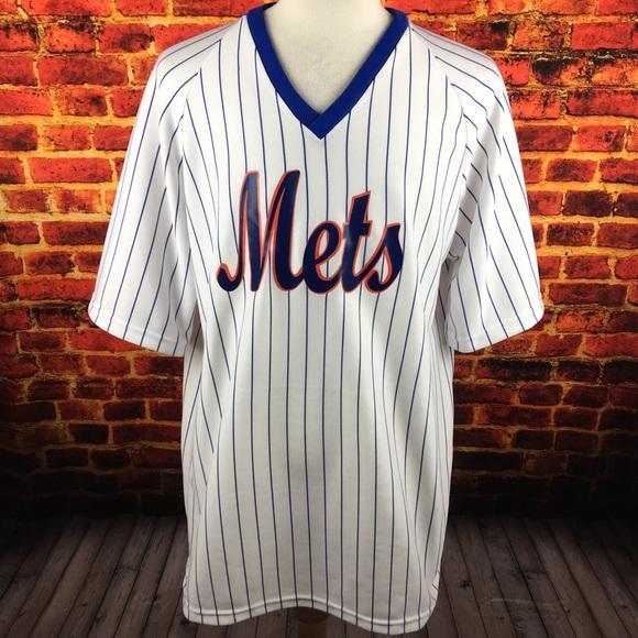 buy online a71a7 21e66 Vintage NY Mets Pinstripe Baseball Jersey